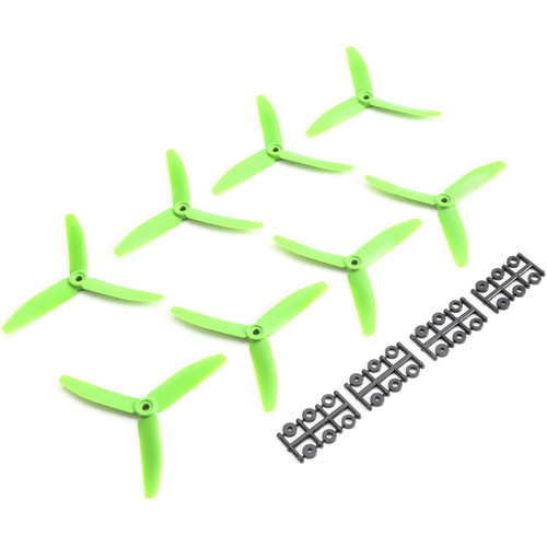 HQProp Triple 5 x 4 x 3 Propeller (8-Pack, Green)