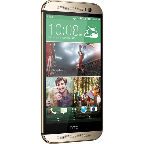 HTC One M8 32GB AT&T Branded Smartphone (Unlocked, Amber Gold)