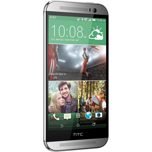 HTC One M8 32GB AT&T Branded Smartphone (Unlocked, Glacial Silver)