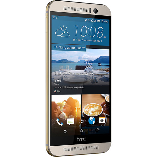 HTC One M9 32GB AT&T Branded Smartphone (Unlocked, Gold)