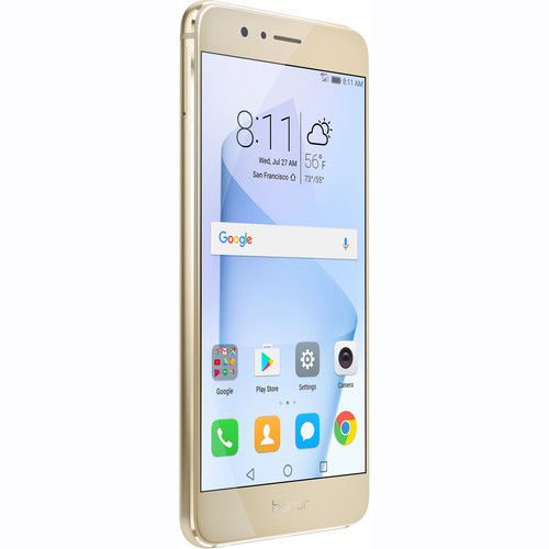 Huawei Honor 8 64GB Smartphone (Unlocked, Sunrise Gold)