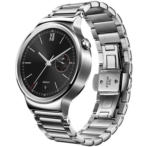 Huawei Watch 42mm Smartwatch (Stainless Steel, Stainless Steel Link Band)