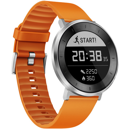 Huawei Fit Sport Watch (Moonlight Silver, Orange Band, Small)