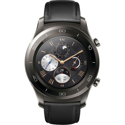 Huawei Watch 2 Classic Smartwatch (Titanium Gray, Black Hybrid Strap)