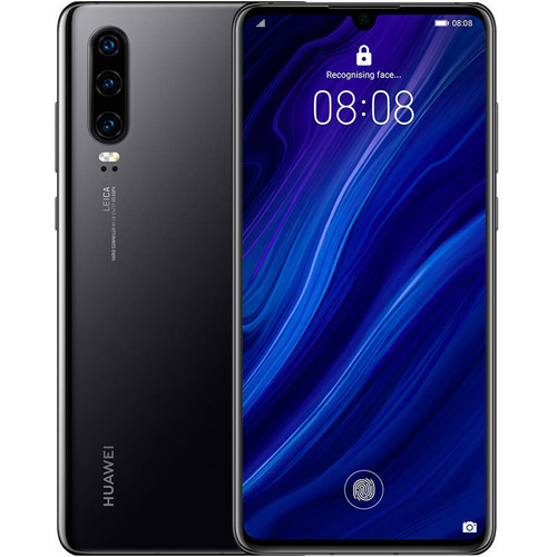 Huawei P30 Dual-SIM 128GB Smartphone (Unlocked, Black)