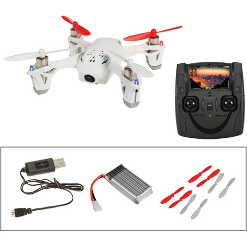 HUBSAN X4 H107D Quadcopter with Spare Battery, Props and Changer Kit