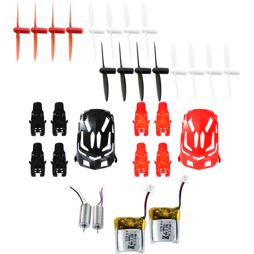 HUBSAN Crash Pack for Q4 Nano H111 Quadcopter (Black/Red)