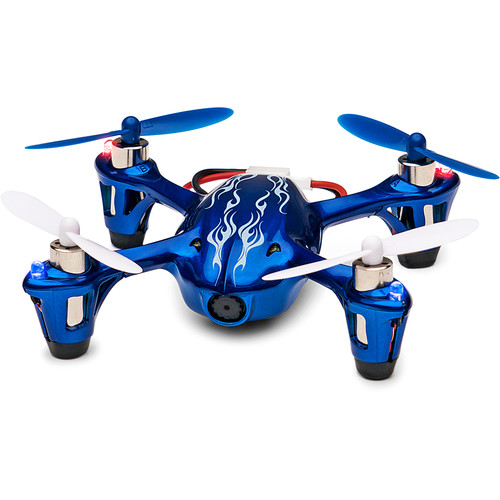HUBSAN X4 H107C-HD Quadcopter with Spare Battery, Props and Changer Kit (Royal Blue)