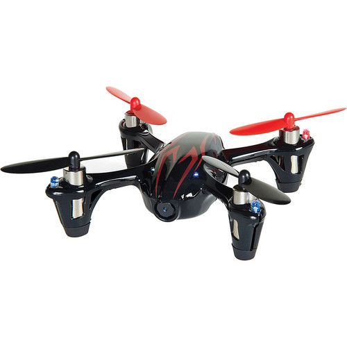 HUBSAN X4 H107C-HD Quadcopter with Spare Battery, Props and Changer Kit (Black/Red)
