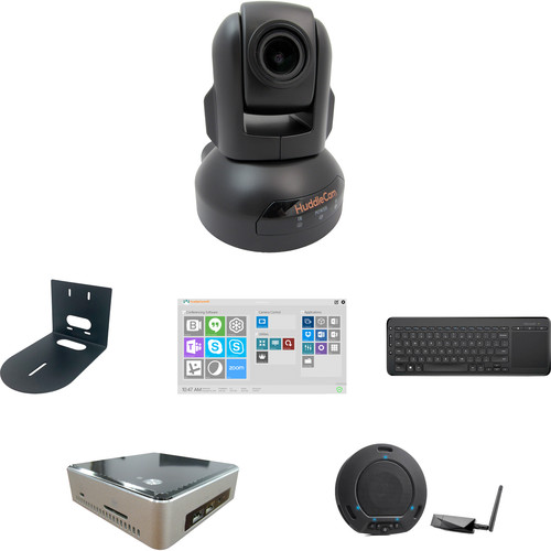 HuddleCamHD TEAM Video Collaboration PTZ Kit with QuickLaunch UE Software