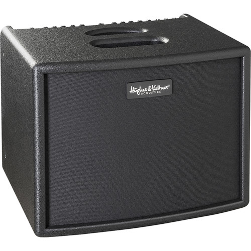"""Hughes & Kettner 250-Watt Acoustic Combo 4-Channel Amplifier with 1"""" Tweeter and 8""""  Woofer with Padded Cover (Black)"""