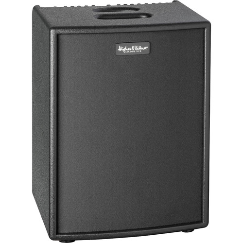 """Hughes & Kettner 400-Watt Acoustic Combo 4-Channel Amplifier with  2 x 8"""" Woofers with Padded Cover (Black)"""