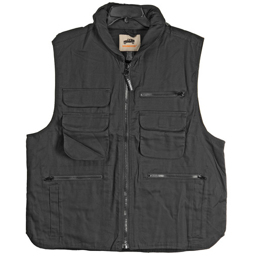 Humvee by CampCo 9-Pocket Ranger Vest, 100% Cotton (XXX-Large, Black)