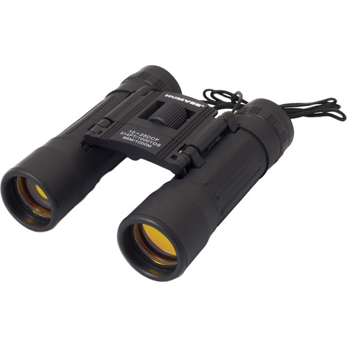 Humvee 10x25 Rubber Coated Compact Binocular (Black)