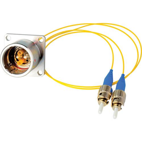 """Camplex 6"""" Lemo EDW to Duplex ST Fiber Optic Breakout Cable"""