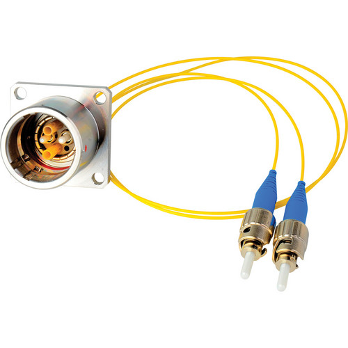 "Camplex 12"" Lemo EDW to Duplex ST Fiber Optic Breakout Cable"