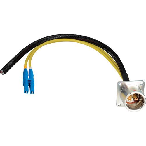 """Camplex 6"""" Lemo EDW to Duplex LC Fiber & Blunt Lead Power Breakout Cable"""
