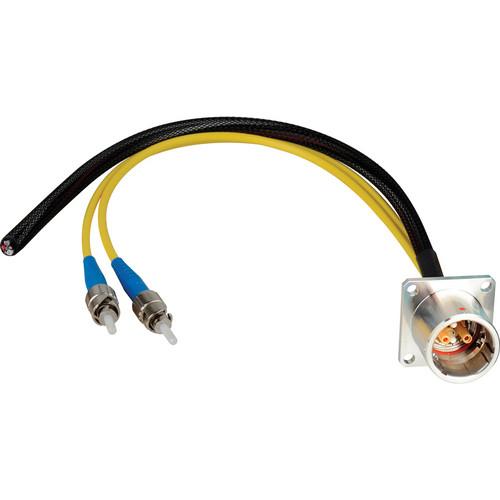 """Camplex 18"""" Lemo EDW to Duplex ST Fiber & Blunt Lead Power Breakout Cable"""