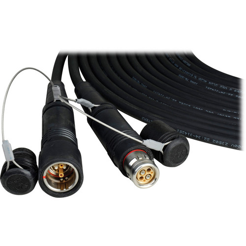 Camplex Lemo FUW Male to Lemo PUW Female Outside Broadcast Fiber Camera Cable (1500')