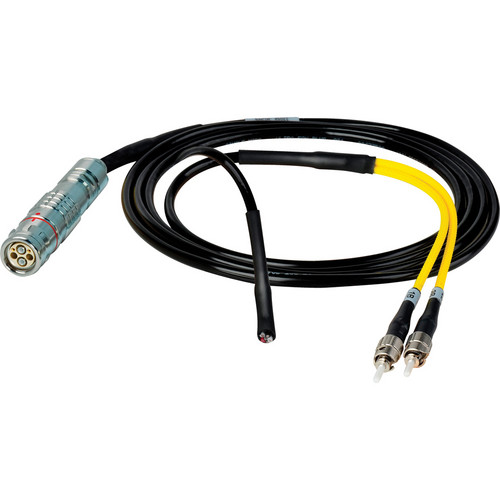 Camplex 6' Lemo FUW to Duplex ST Fiber & Blunt Lead Power In-Line Breakout Cable