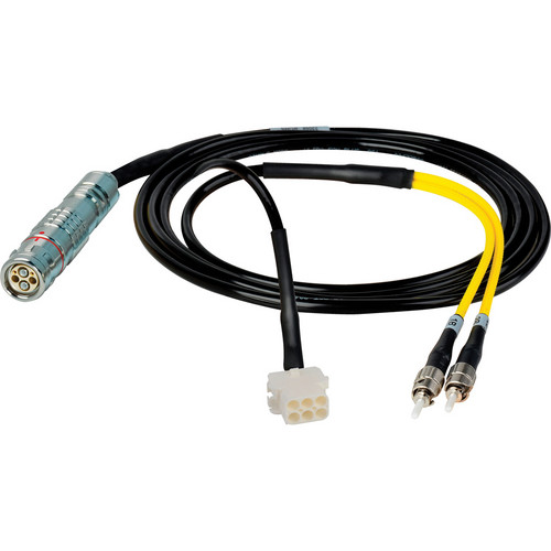 Camplex 6' Lemo FUW to Duplex ST Fiber & 6-Pin AMP Reverse Gender In-Line Breakout Cable