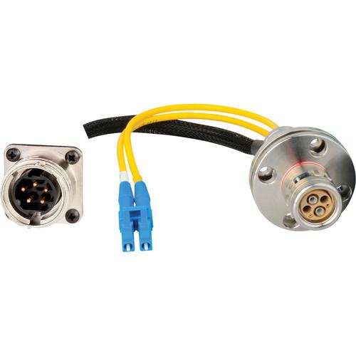 "Camplex 6"" LEMO FXW to Duplex ST Fiber & 5-Pin AMP Reverse Gender Breakout Cable"