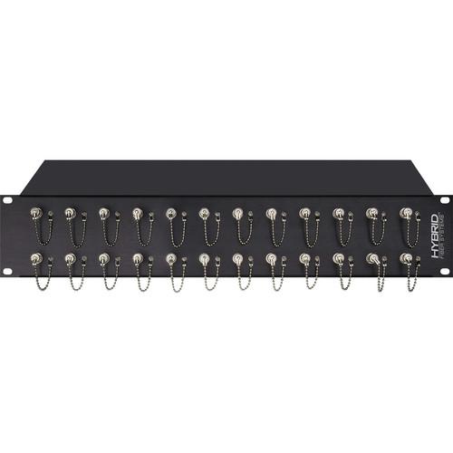 Camplex 24-Port ST to ST Optic Fiber Feedthru Rackmount Cabinet