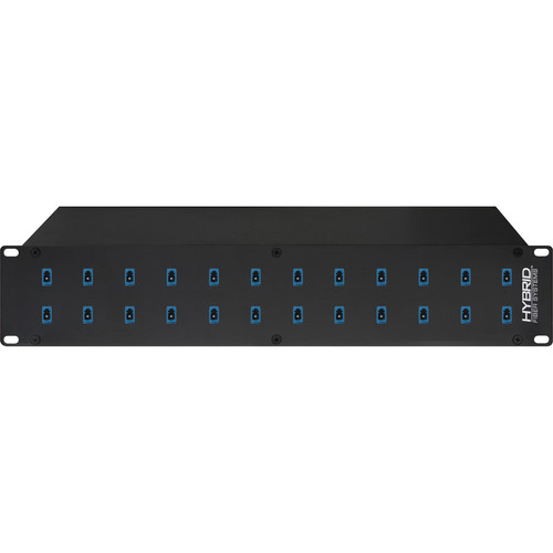 Camplex 24-Port LC to LC Optic Fiber Feedthru Rackmount Cabinet