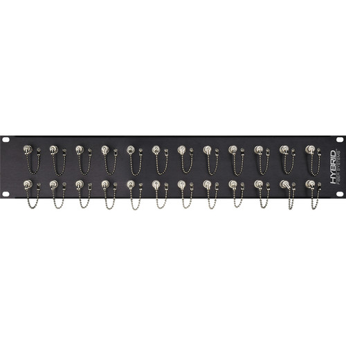 Camplex 24-Port Simplex ST Single-Mode Fiber Feedthrough Rackmount Panel