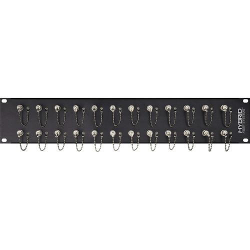 Camplex 24-Port Simplex ST Multi-Mode Fiber Feedthrough Rackmount Panel