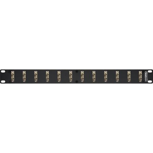Camplex 12-Port Duplex ST Single-Mode Fiber Feedthrough Rackmount Panel
