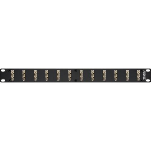 Camplex 12-Port Duplex ST Multi-Mode Fiber Feedthrough Rackmount Panel
