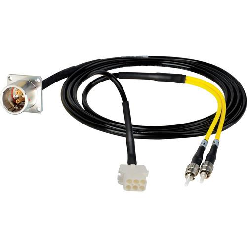 Camplex 6' Lemo PBW to Duplex ST Fiber & 6-Pin AMP Reverse Gender Inline Breakout Cable