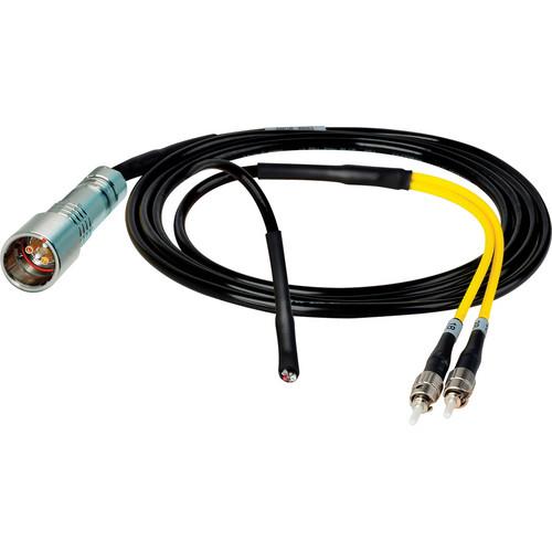 Camplex 6' Lemo PUW to Duplex ST Fiber Inline Breakout Cable