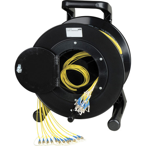 Camplex 4-Channel ST Single-Mode Fiber Tactical Snake Reel (1500')