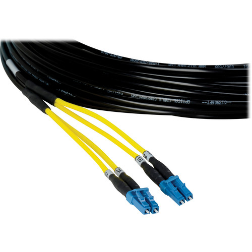 Camplex Two-Channel LC Single-Mode Fiber Tactical Snake Cable (500')