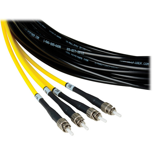 Camplex Two-Channel ST Single-Mode Fiber Tactical Snake Cable (100')