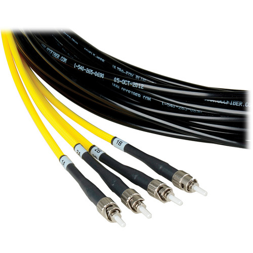Camplex Four-Channel ST Single-Mode Fiber Tactical Snake Cable (500')