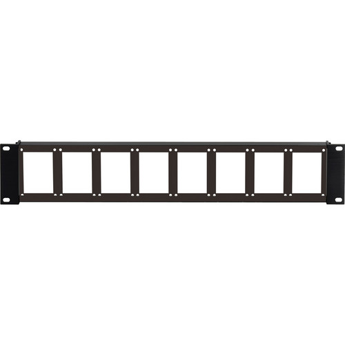 Camplex 90 2RU 8-Position Empty Rack Frame (Flat Front)