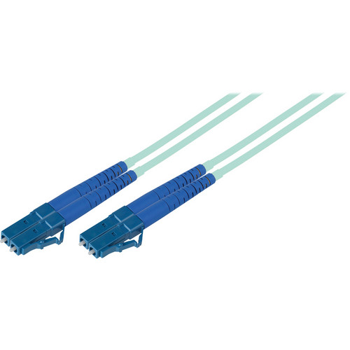 Camplex Duplex LC to Duplex LC Multimode Fiber Optic Patch Cable (16.4', Aqua)