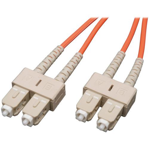 Camplex Duplex SC to Duplex SC Multimode Fiber Optic Patch Cable (Orange, 3.28')