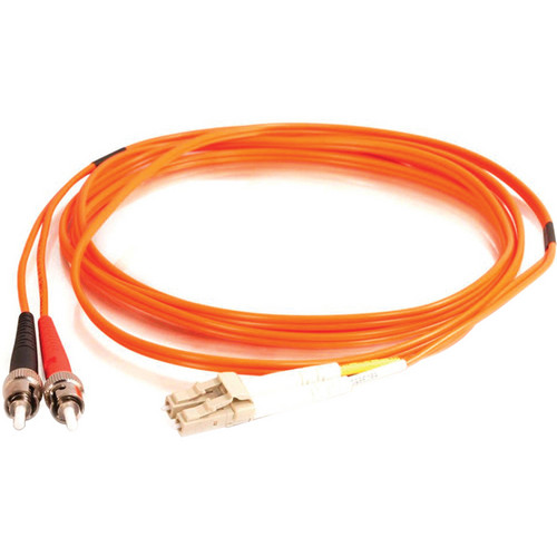Camplex Duplex ST to Duplex LC Multimode Fiber Optic Patch Cable (16.4', Orange)