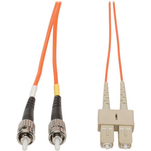 Camplex Duplex ST to Duplex SC Multimode Fiber Optic Patch Cable (3.28', Orange)