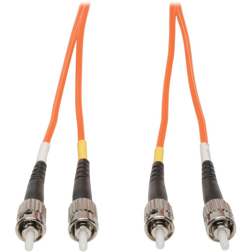 Camplex Duplex ST to Duplex ST Multimode Fiber Optic Patch Cable (Orange, 3.28')