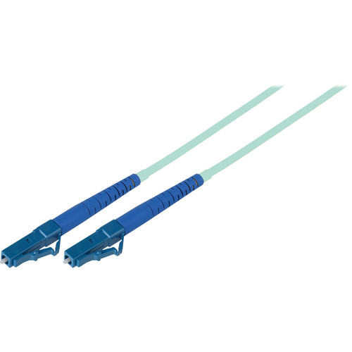 Camplex Simplex LC to LC Multimode Fiber Optic Patch Cable (9.84', Aqua)