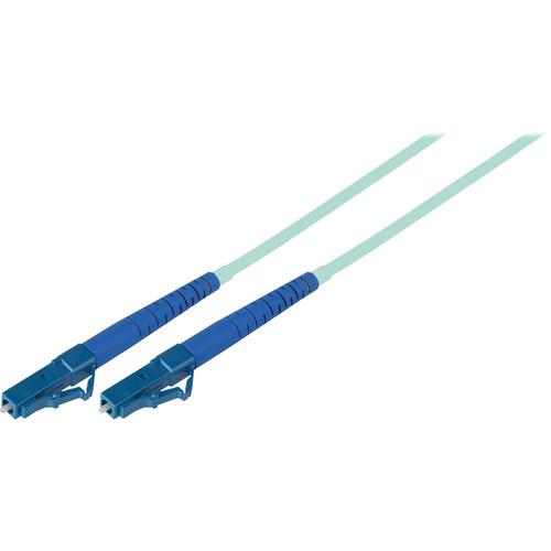 Camplex Simplex LC to LC Multimode Fiber Optic Patch Cable (16.4', Aqua)