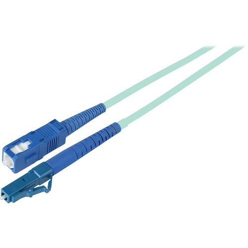 Camplex Simplex LC to SC Multimode Fiber Optic Patch Cable (16.4', Aqua)