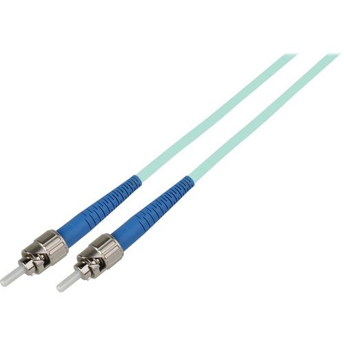 Camplex Simplex ST to ST Multimode Fiber Optic Patch Cable (3.28', Aqua)