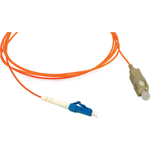 Camplex Simplex LC to SC Multimode Fiber Optic Patch Cable (Orange, 16.4')