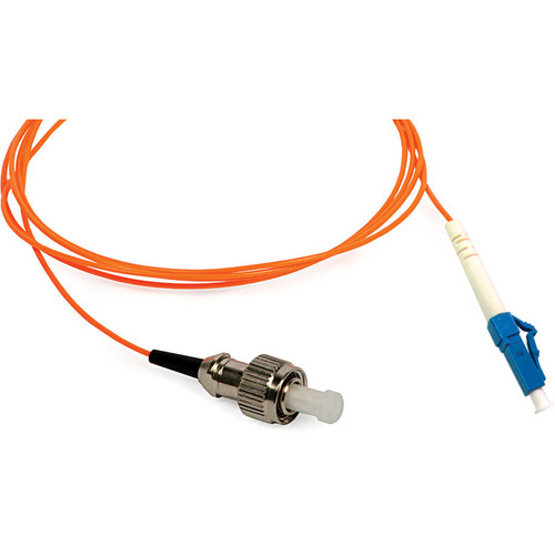 Camplex Simplex ST to LC Multimode Fiber Optic Patch Cable (16.4', Orange)